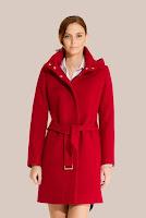 Palton rosu din stofa de lana 413 (Ama Fashion)