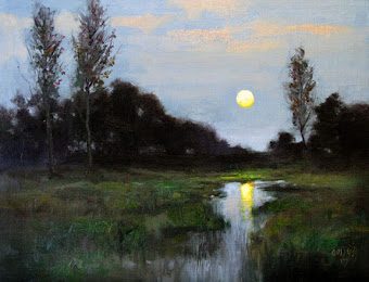 """Early Moon"" by Warren Gossett"