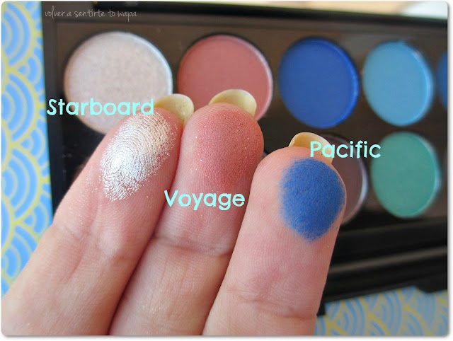 Calm Before The Storm, la paleta de sombras de la Colección NAUTICAL de SLEEK - Swatches