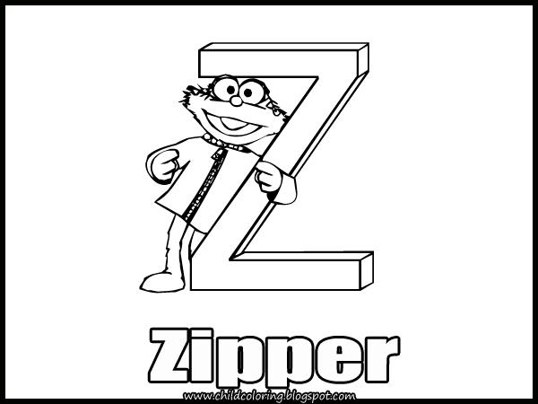 Sesame Street Alphabet Coloring Letters