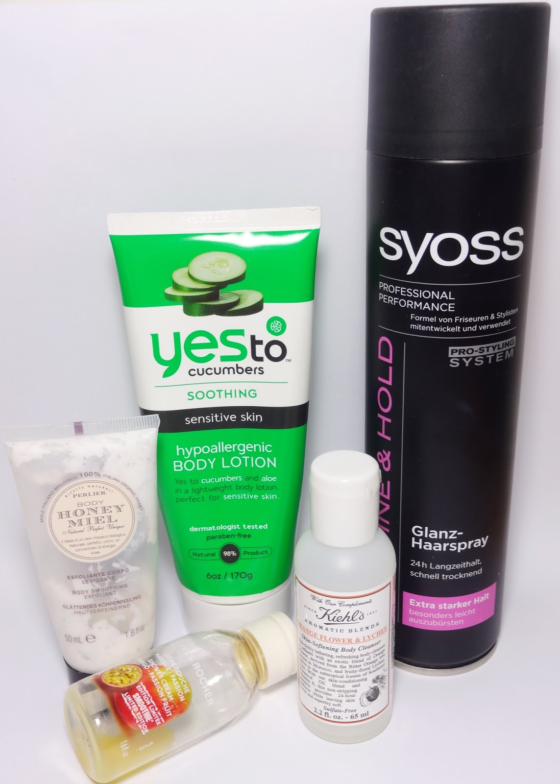 Perlier, Yves Rocher, Yes To, Kiehls, Syoss