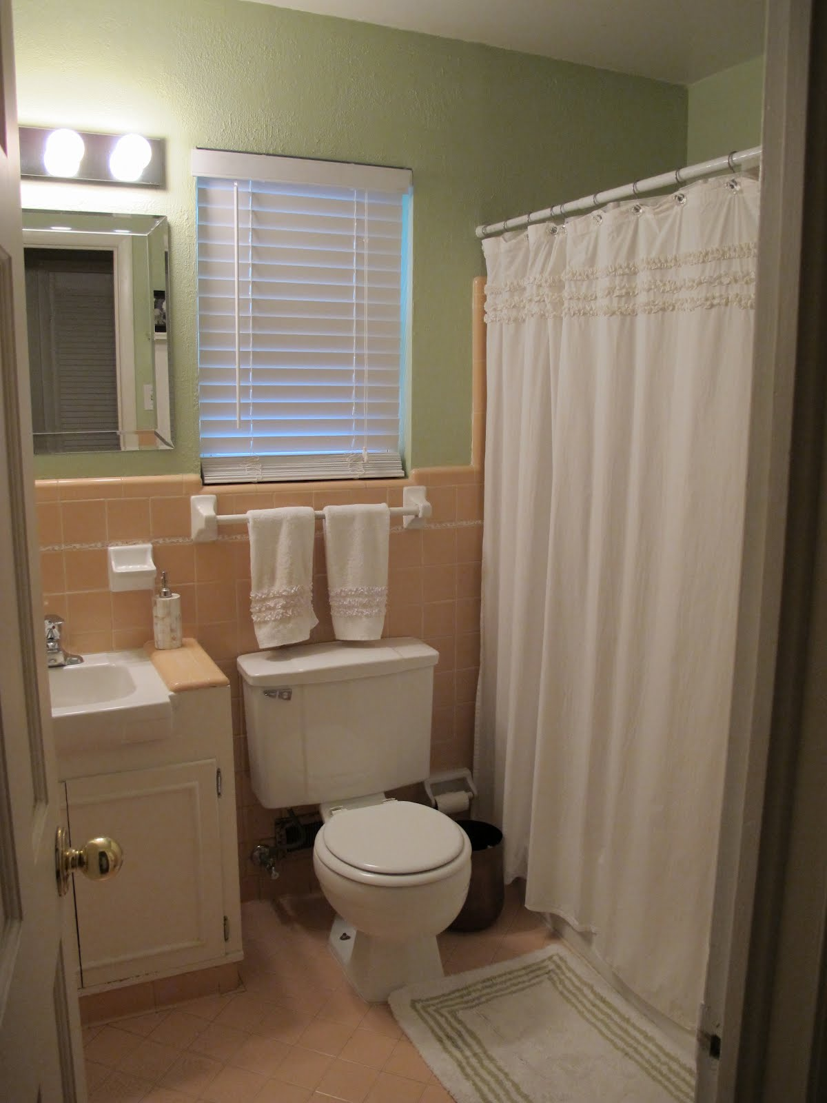 So happy together bathroom makeover Peach bathroom