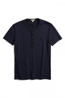 Burberry Brit 'Elleswood' Jersey Henley T-Shirt