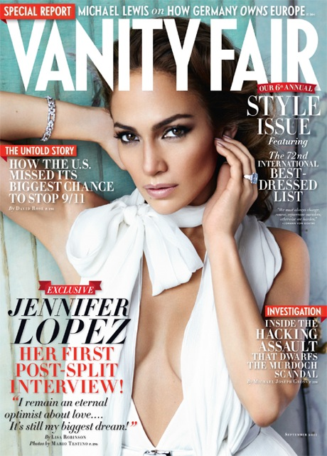 Jennifer Lopez Vanity Fair Magazine Cover September 2011 2012