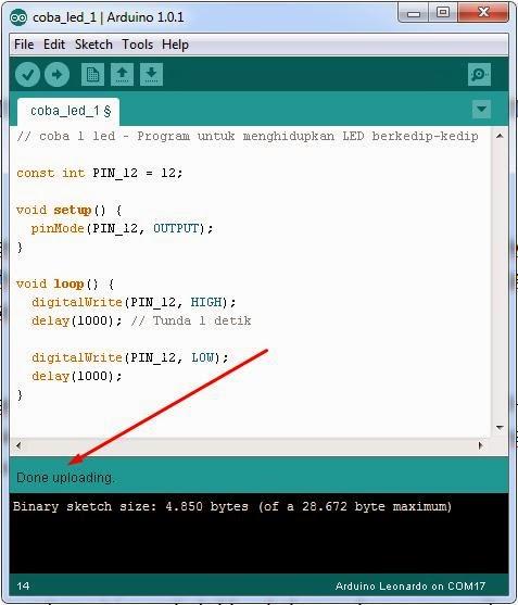 Cara memprogram dan menjalankan arduino muhammad zulfikar