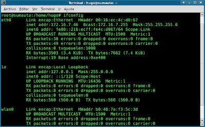interfaz de red en linux