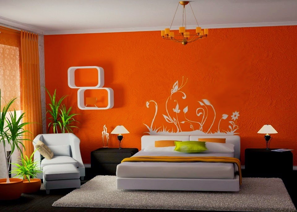 8 Homey Bedroom Ideas That Will Match Your Style: Chambre Orange
