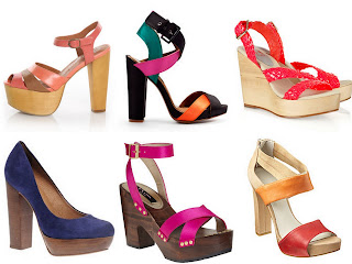 colorful broad heels