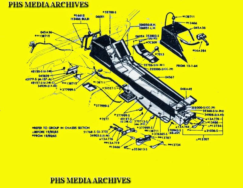 phscollectorcarworld: Tech Files: Mustang Console ID 1965-1966 Era