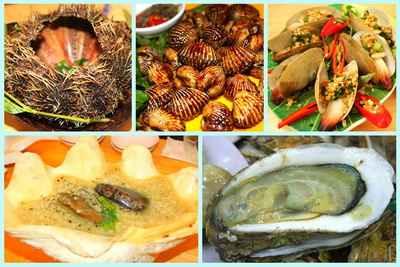 5 loại hải sản tráng dương, hai san ngon, hau, tu hai, so huyet, bao ngu, cau gai, khám phá ẩm thực, tin am thuc, mon an tot cho suc khoe
