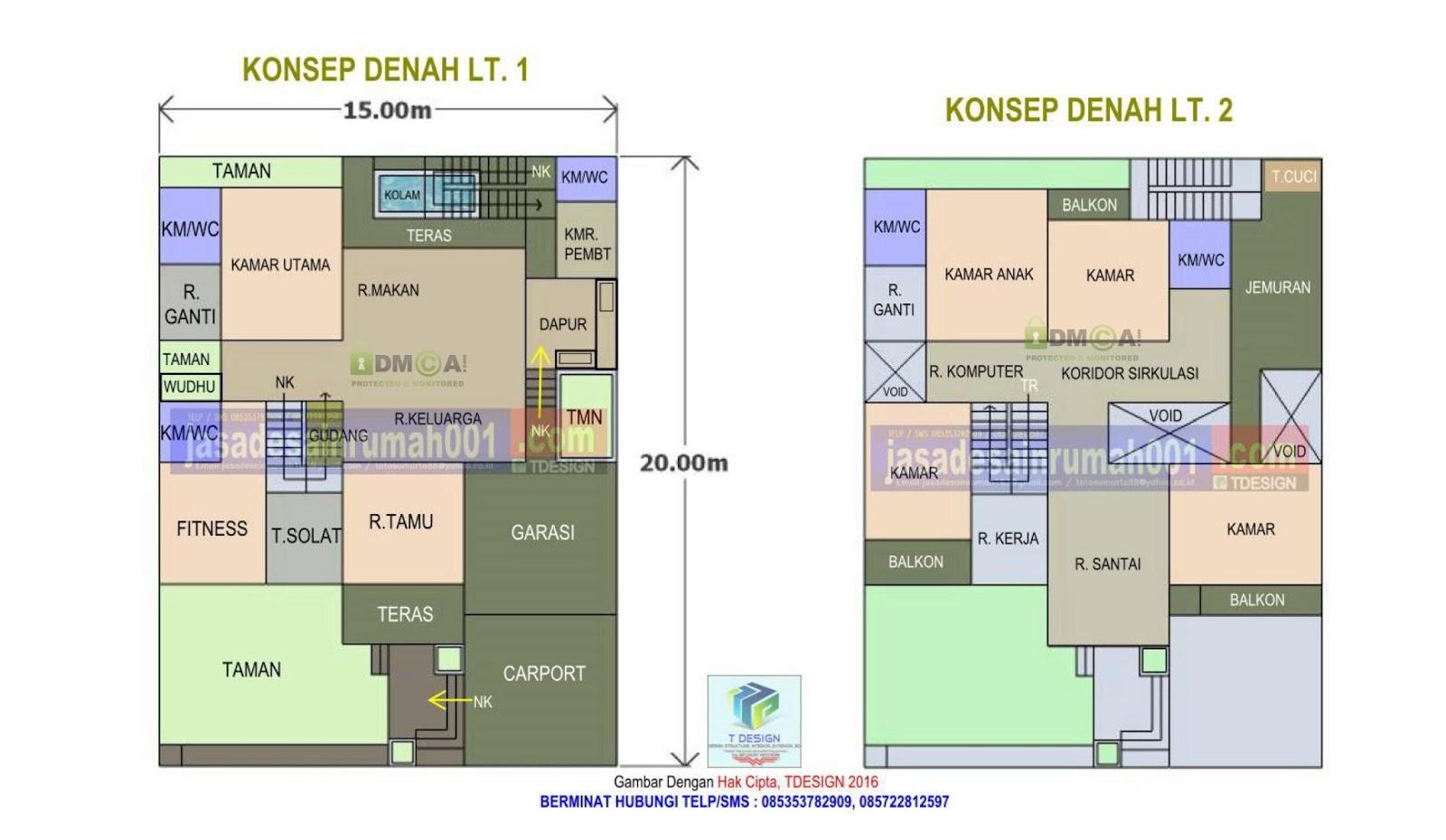 jasa desain rumah t design rumah ukuran 15 x 20 m2 2