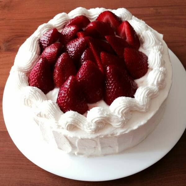 ... : Japanese Strawberry Chiffon Shortcake (cooked dough method