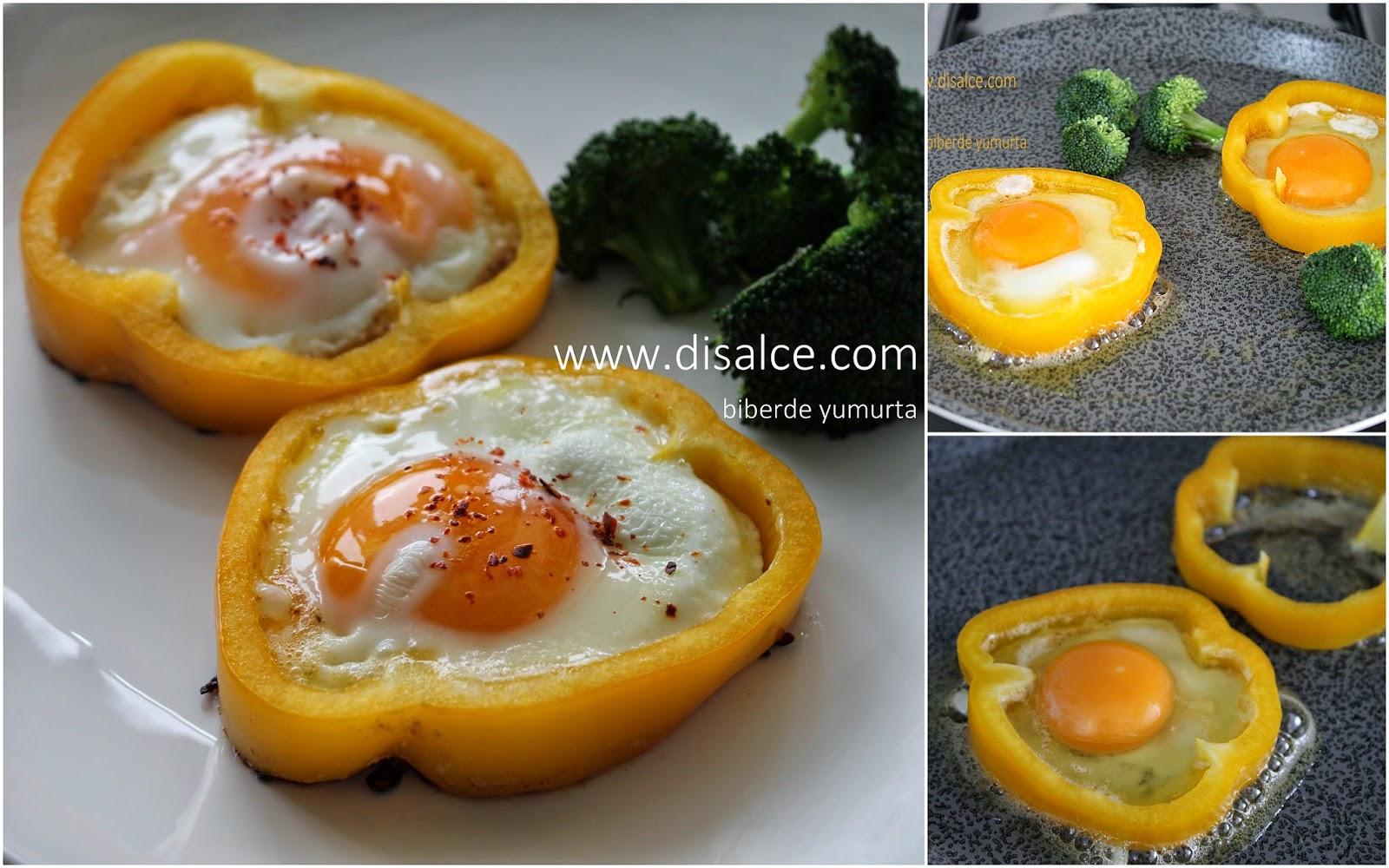 sarı biberde tereyağlı yumurta