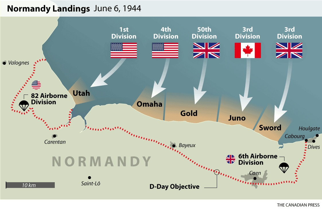 D Day Beaches Image Found At Cponline Thecanadianpress Com Graphics  Static Cp Normandy Landings Png
