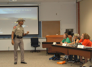 DPS Trooper Eric Burse, a SHSU Alumnus, shares information of careers available at his agency.