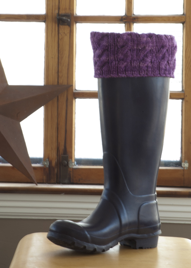 Free Knitting Pattern For Welly Socks : Life in Cleveland: Warm Up Your Wellies Boot Liner Pattern