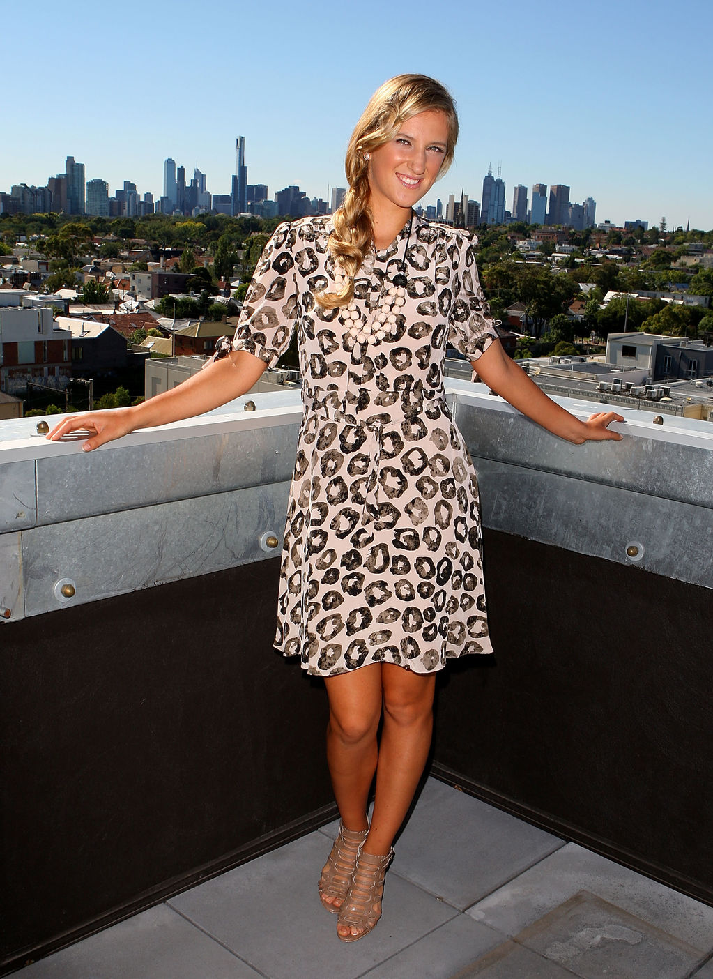 Victoria azarenkas fashion and off court pictures cute victoria azarenka of belarus strikes a stylish modeling pose voltagebd Image collections