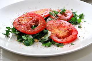 tabouleh, tomatoes, parsley, susan, rosii, fresh, food, white, red, shot