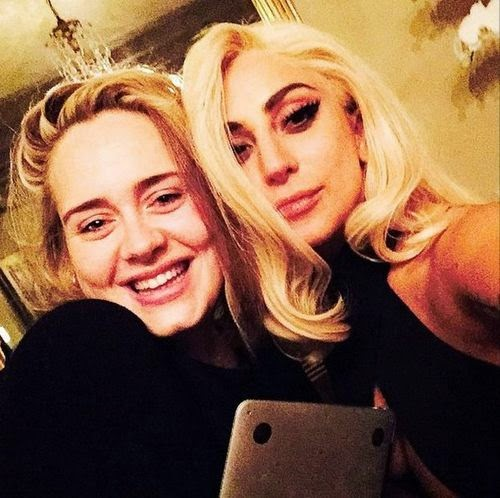Adele & Lady GaGa: Unequal Sisters Selfie
