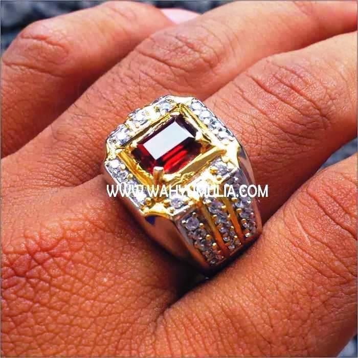 Batu Cincin Permata Garnet SOLD