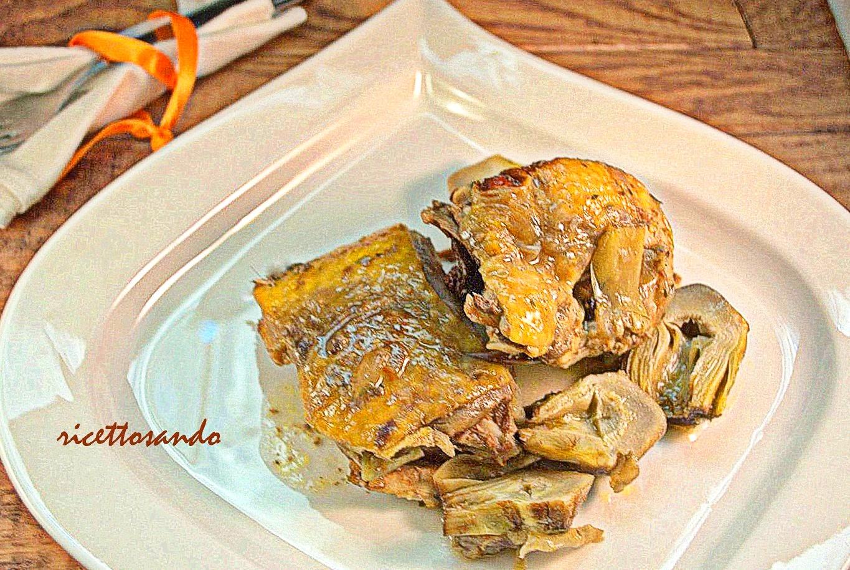 Faraona con spezie e carciofi ricetta secondi di carne bianca