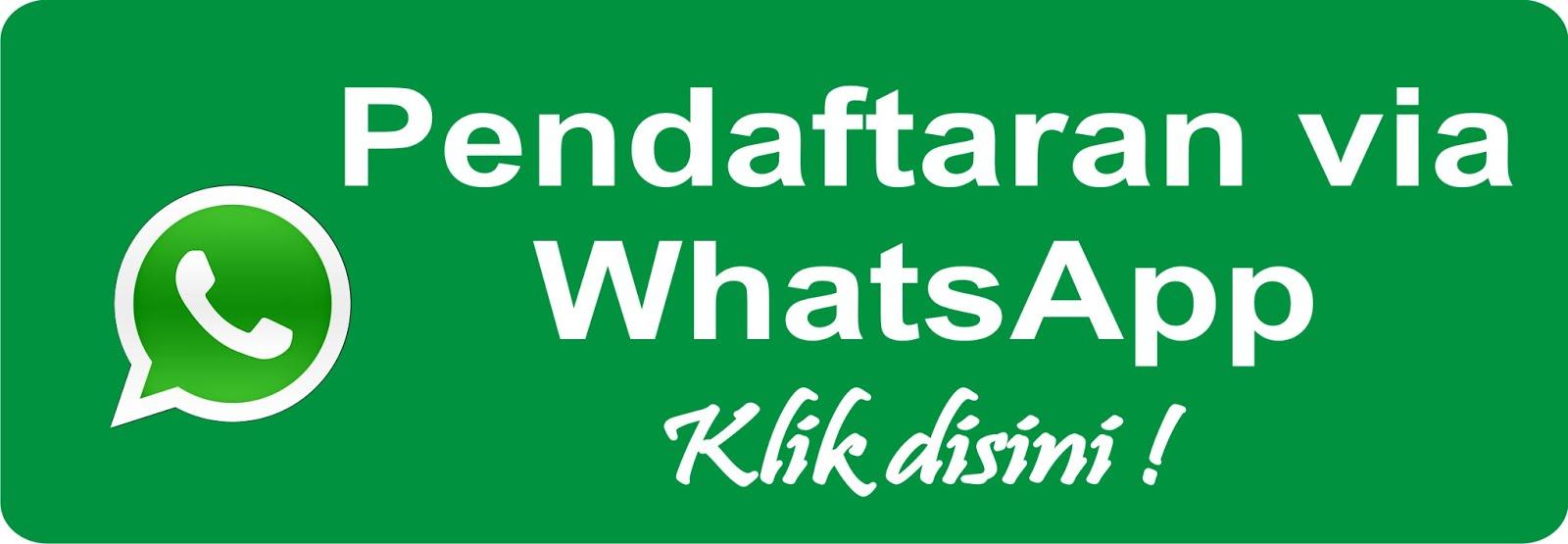 Pendaftaran via WhatsApp