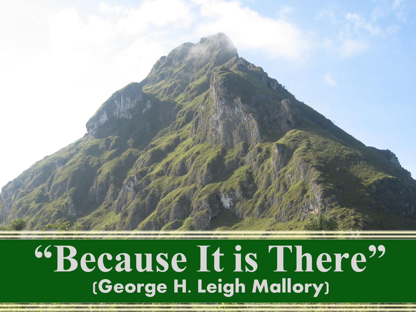 Mengapa Mendaki Gunung? (Sebuah Kontroversi Klasik)