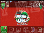 1 1111221053140 L Happy Christmas theme for blackberry 8520,9300 themes