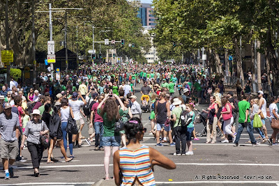 Crowds at the St Patrick's Day Parade, Sydney