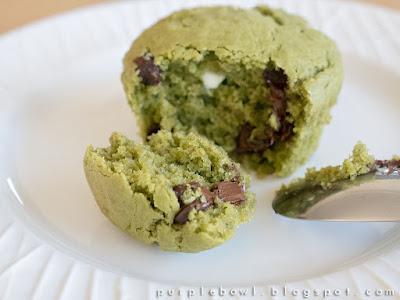 Green tea chocolate chips muffins recipe