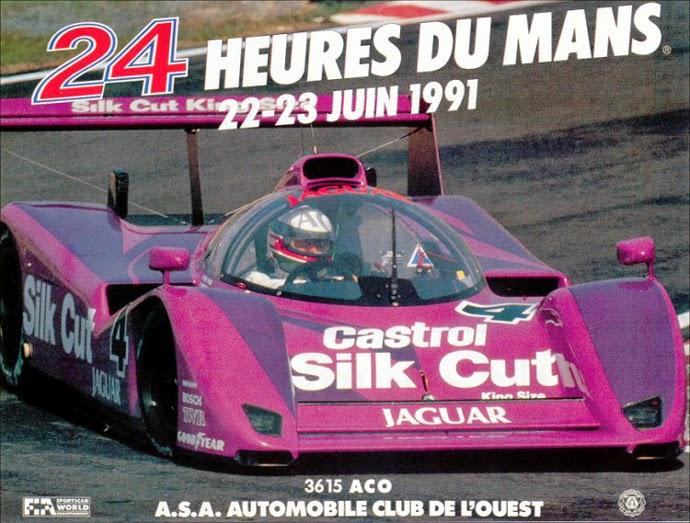 Affiche officielle des 24 Heures du Mans 1991