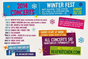 WIN Beat Kitchen Concerts for Kids--4 FREE tickets to any/all of the next 8 Shows ($24 value each).