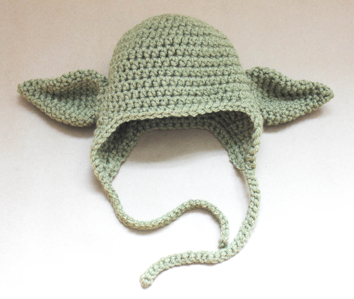Knitting Pattern For Baby Yoda Hat : Crochet Yoda Hat - Repeat Crafter Me