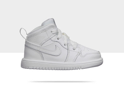 Air Jordan 1 Mid Flex (2c-10c) Toddler Girls' Shoe White/White-Cool Grey, Style - Color # 554727-100