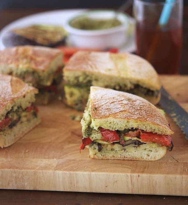Grilled Ratatouille Muffuletta