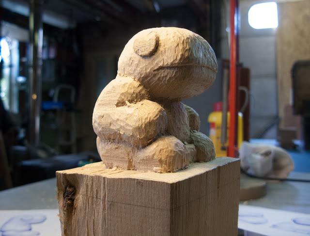 Dino en bois