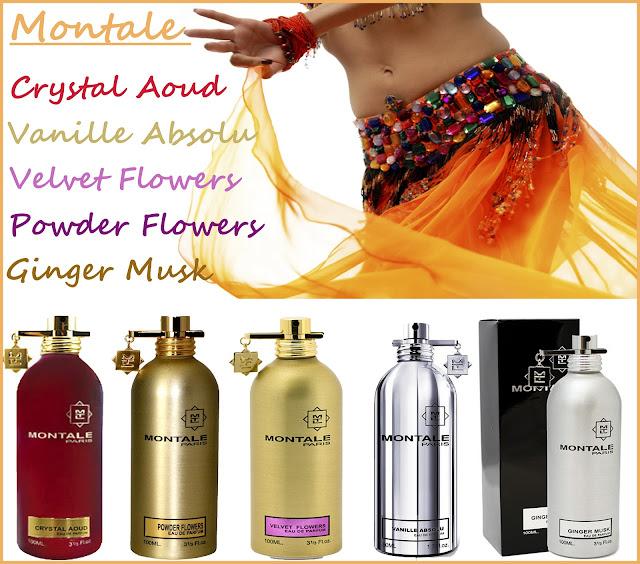 Montale – Vanille Absolu, Velvet Flowers, Powder Flowers, Ginger Musk и Crystal Aoud