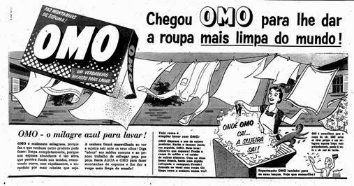 Primeira propaganda do Sabão OMO em 1957