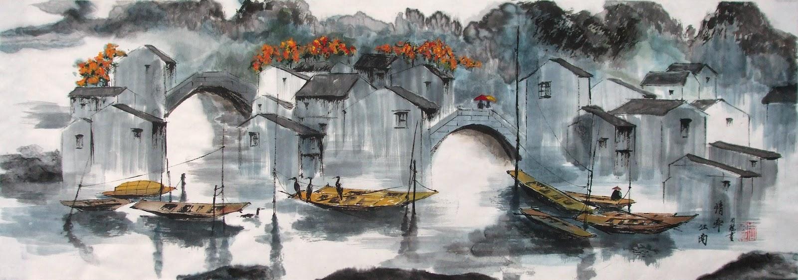 Zhou cong peinture et calligraphie chinoise peinture for Miroir 90x30