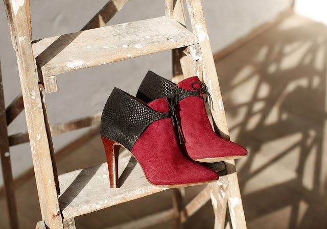 Bottines bordeaux Sezane Collection Hiver 2013