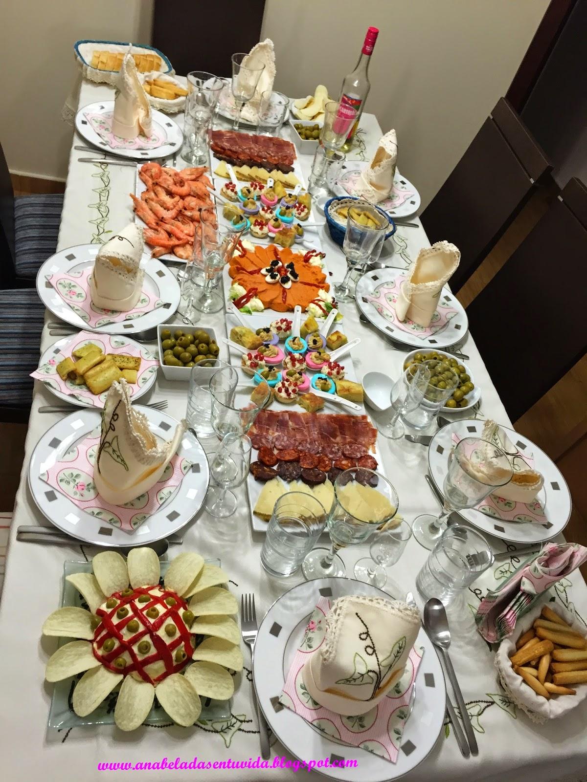 Anabeladas como decorar la mesa en navidad y fin de a o for Como decorar la mesa para navidad