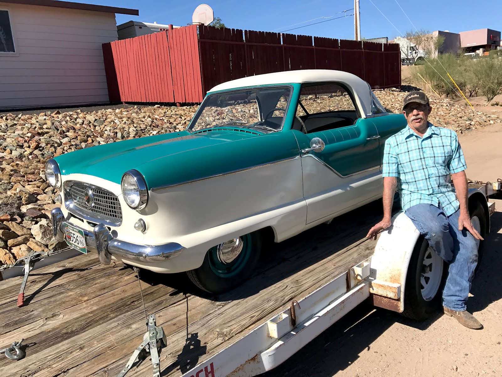 Wickenburg Collector and his Classically Beautiful Nash Metropolitan.