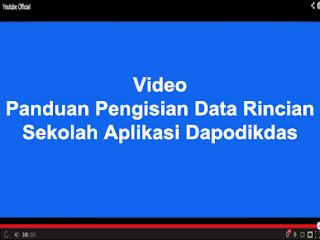 PANDUAN PENGISIAN DATA RINCIAN SEKOLAH APLIKASI DAPODIKDAS 2013