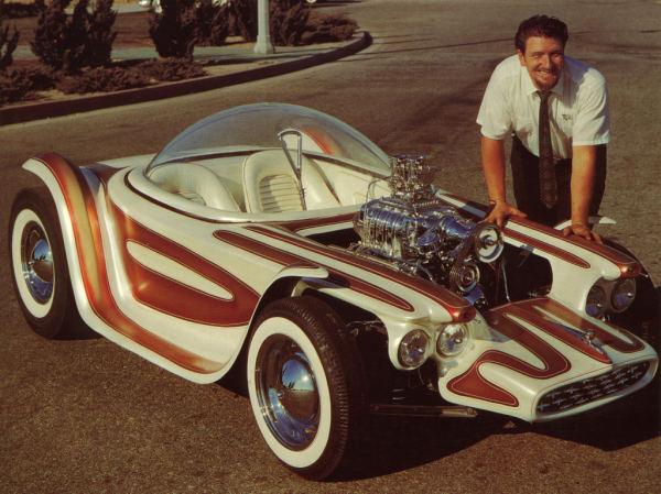 Ed Roth Driving Hot Rod Cars