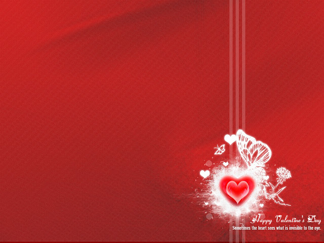 Happy Valentine's Day wide screen abstract Wallpaper