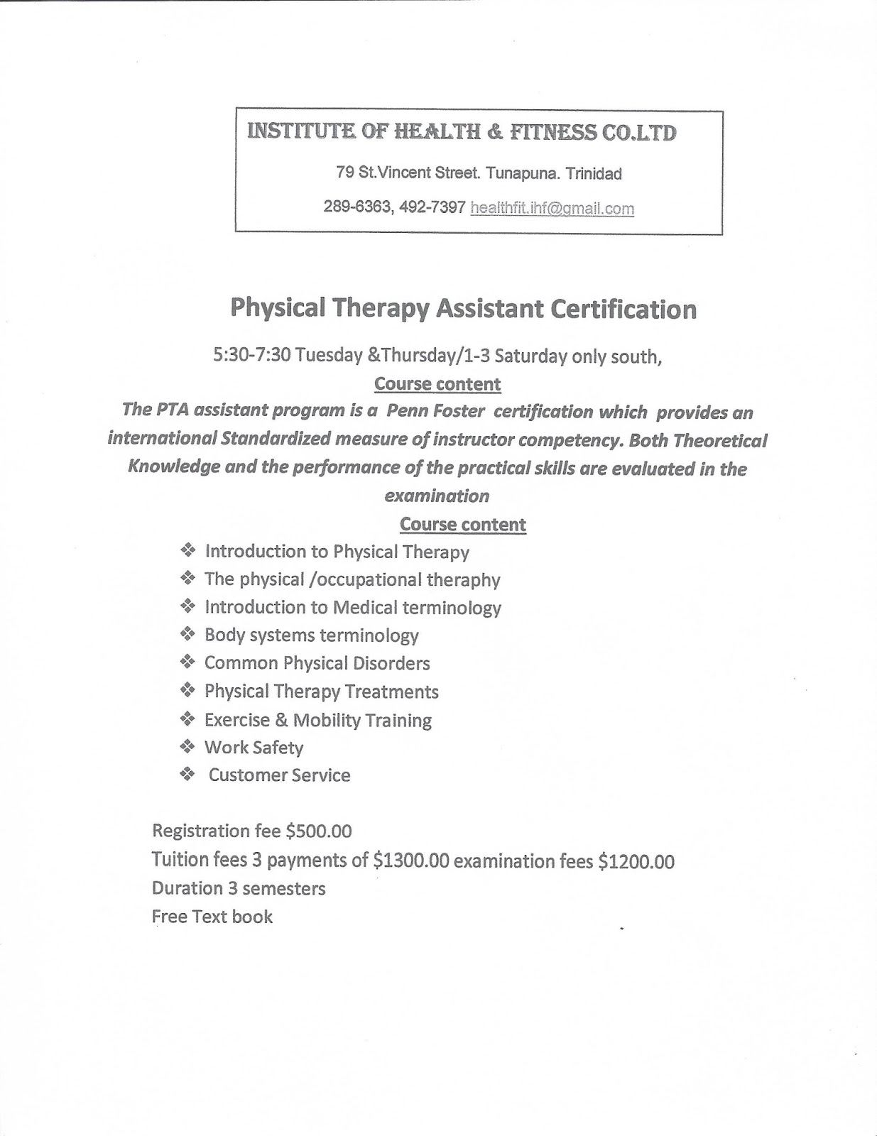 Institute Of Health Fitness Wellness Centre Physical Therapy