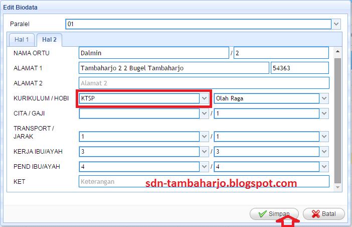 Cara Cepat Edit Data Peserta Un Di Bio System Online Sd Negeri Tambaharjo