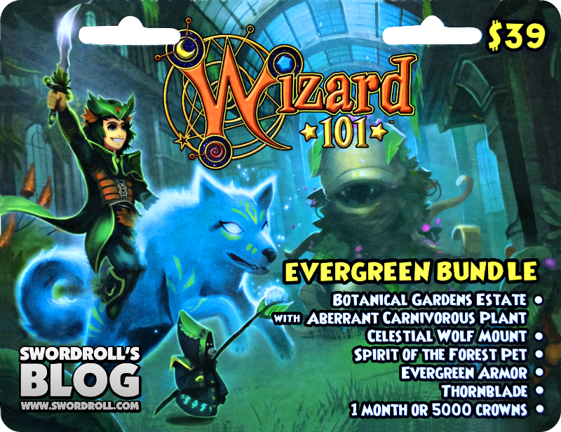 Wizard101 Evergreen Bundle Card