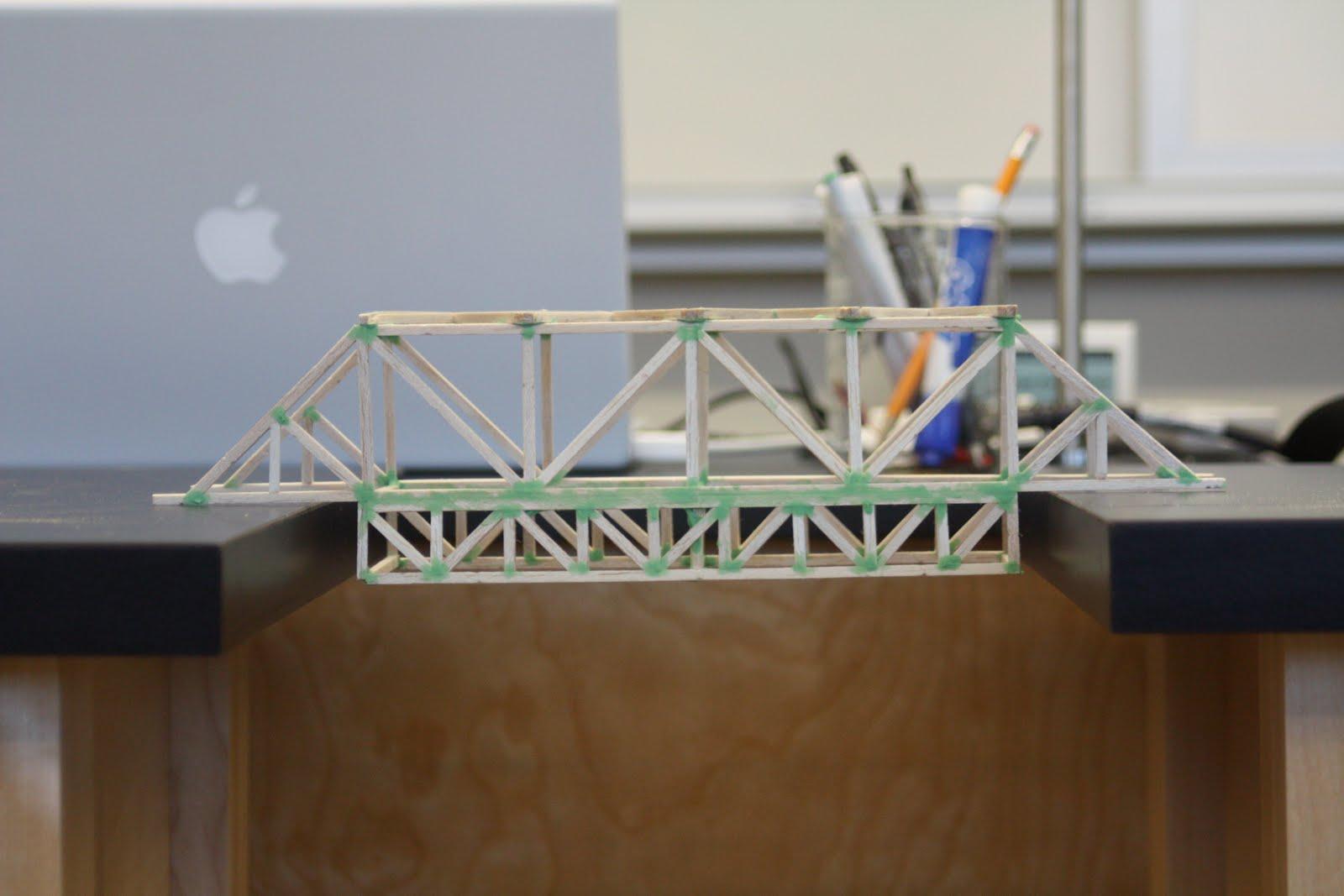 Pratt Truss Toothpick Bridge Suspension Toothpick B...