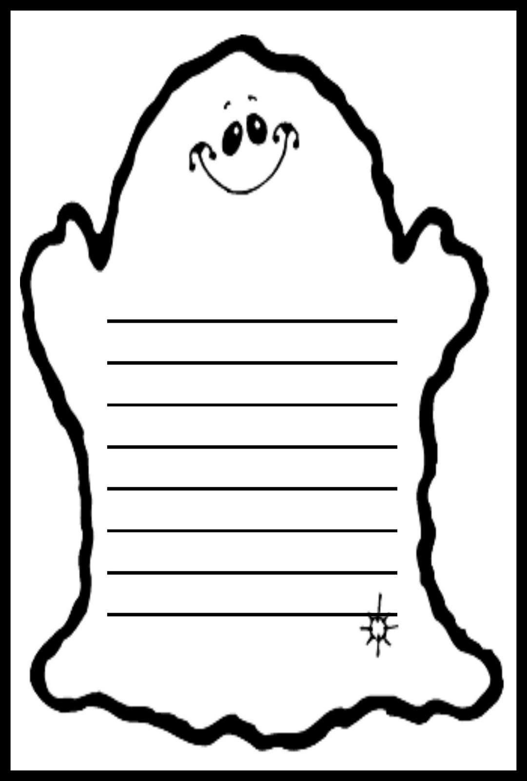 Debbie\'s Resource Cupboard: Ghost writing frame (Halloween)